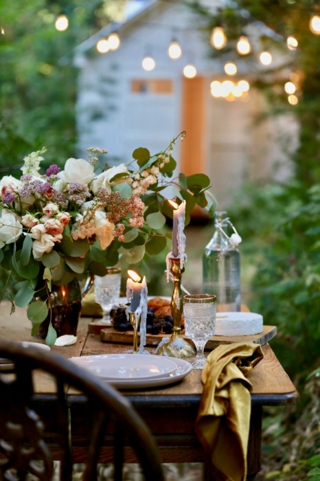 Outdoor Dining by French Country Cottage