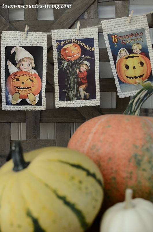 Vintage Halloween Prints Made into Banner