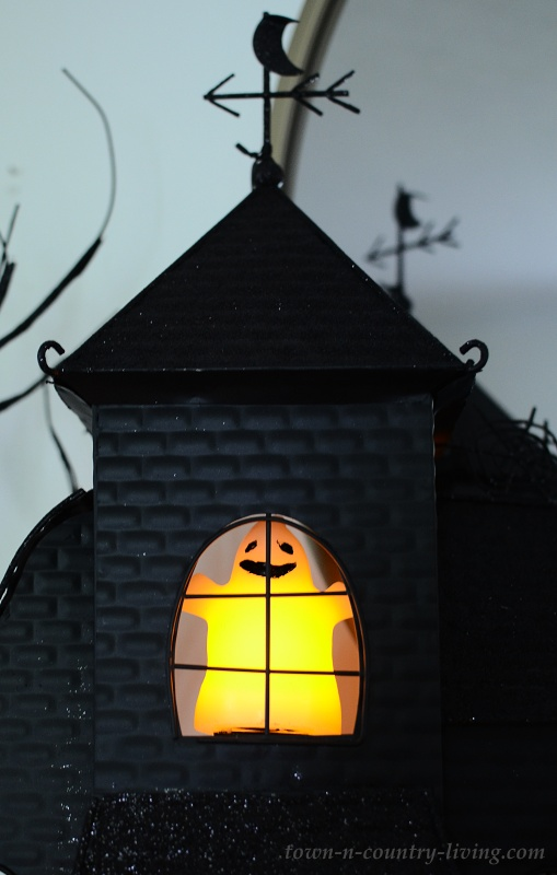 Light Up Ghost in Halloween House
