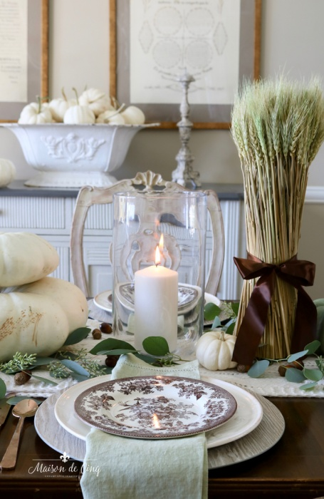 Fall Table Setting by Maison de Cinq