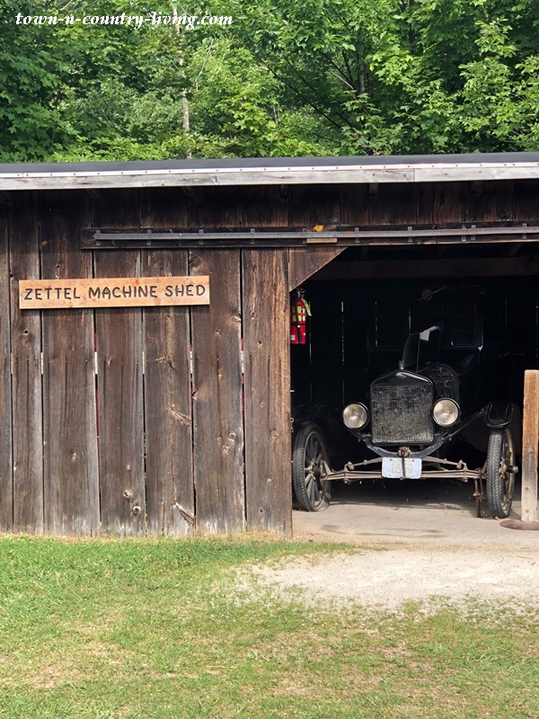 Old Wood Garage with Antique Car