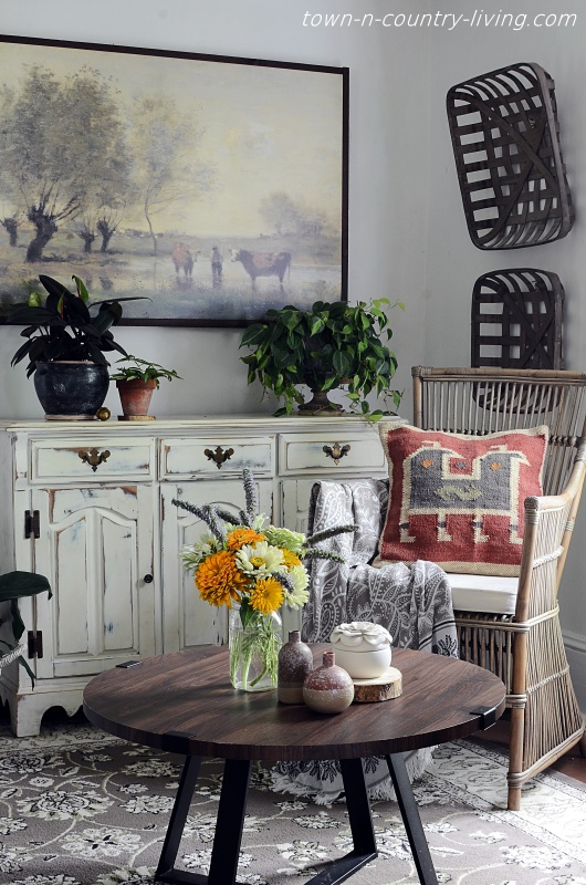 Nature Inspired Fall Home Tour - Sitting Room