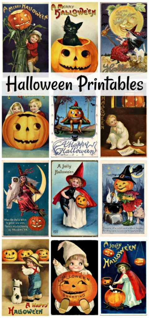 Vintage Halloween Prints to Download
