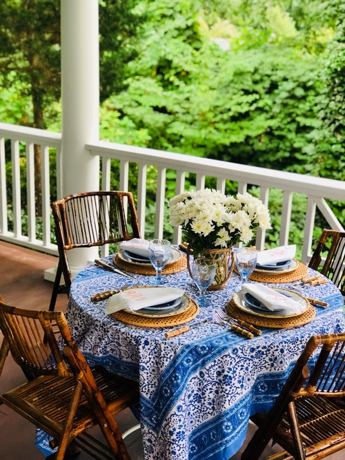 Al Fresco Dining on Front Porch