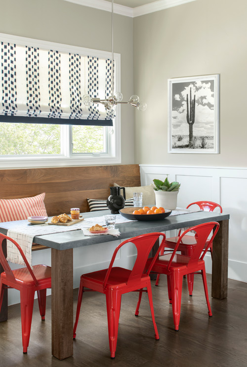 Red and Gray Breakfast Nook