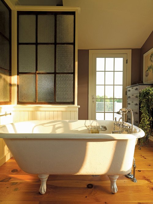 Reclaimed features in a vintage bathroom