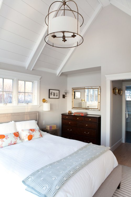 Guest Suite Bedroom with Vaulted Ceiling