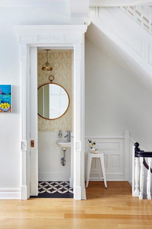 Tiny Bathroom in Historic Home