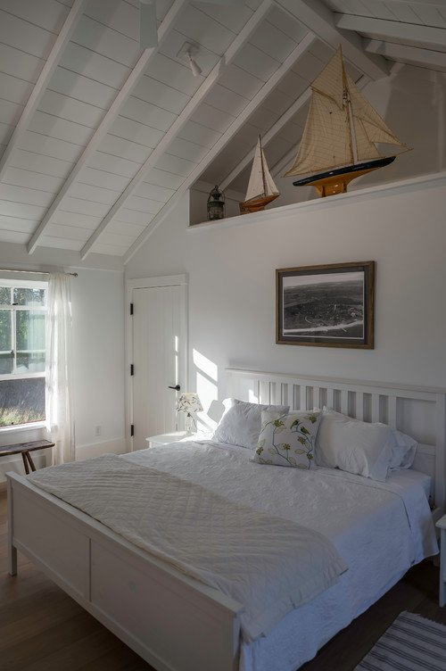 Beach Style White Bedroom