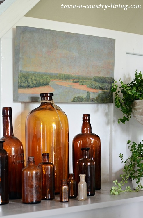 Vintage Bottles for Cozy Living