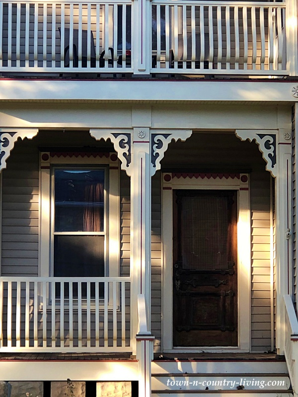 Victorian Porch with Gingerbread Trim