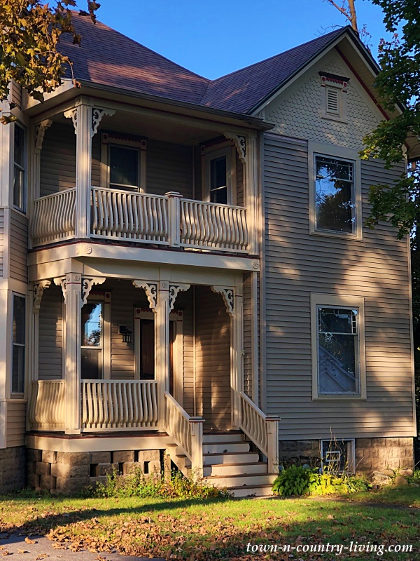 Two Story Porch - Victorian House