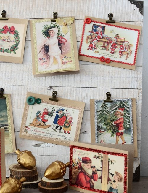 Vintage Christmas Cards - how to make your own with free printables