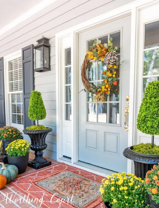 Fall Porch by Worthing Court