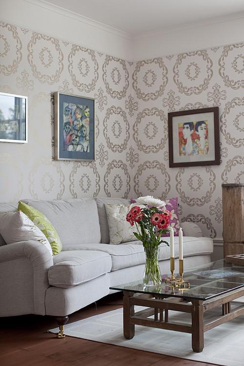 Living room wallpaper inspiration