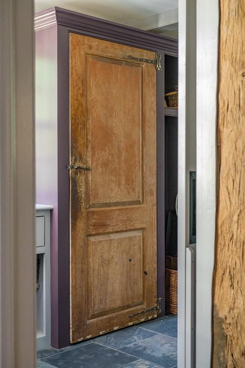Old Salvaged Door in Mudroom
