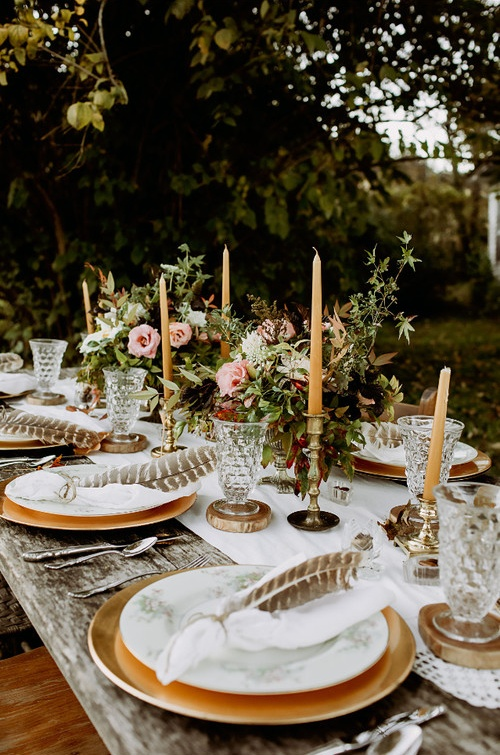 Flower and Candle Centerpiece Ideas