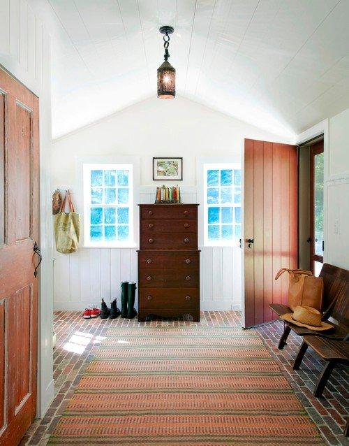 Farmhouse Entryway in Historic Home
