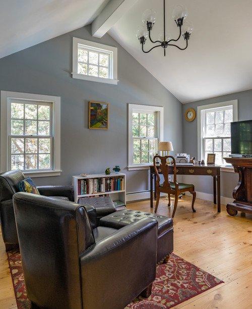 Light Gray Farmhouse Family Room