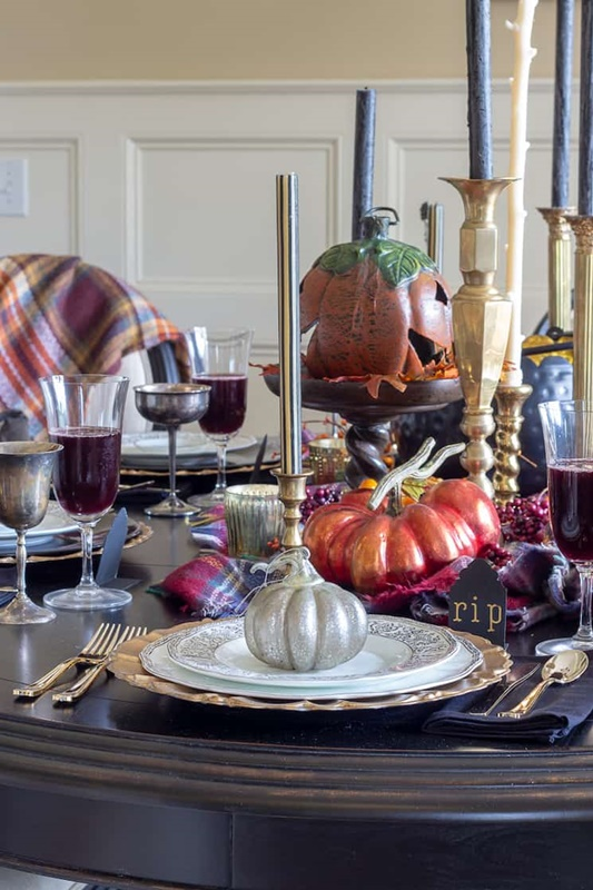 Haunted Halloween Table Setting