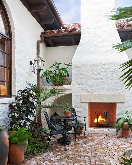 Mediterranean Style Patio and Outdoor Living