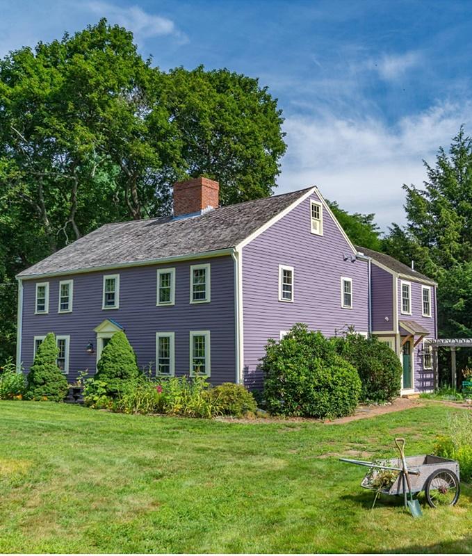 Purple Farmhouse in Massachusetts