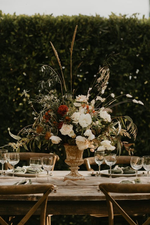 Gorgeous Fall Floral Centerpiece