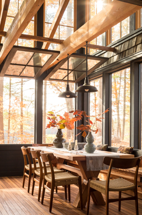 Rustic Dining Room - Cabin in the Woods