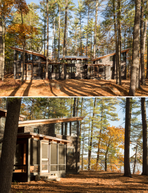 Maine Cabin in the Woods - exterior