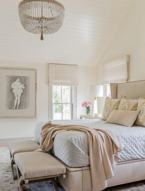 Elegant Master Bedroom in Cream and White