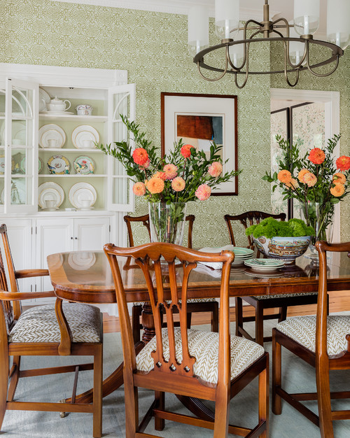 Traditional Dining Room in Historic Light Filled Home