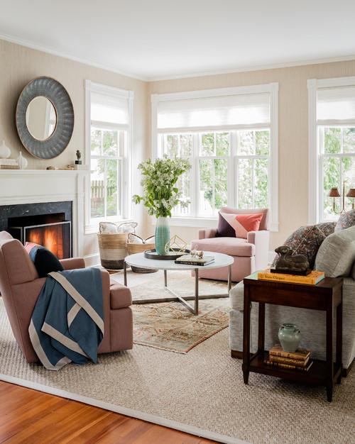 Family Room in Light Filled Home