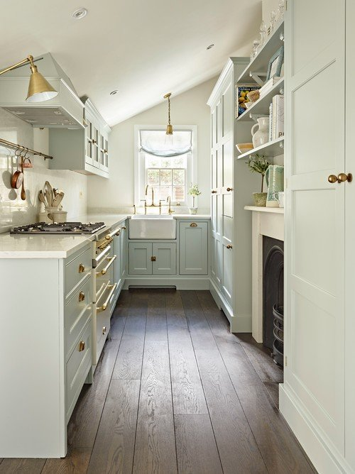 Light Blue and White Cottage Kitchen