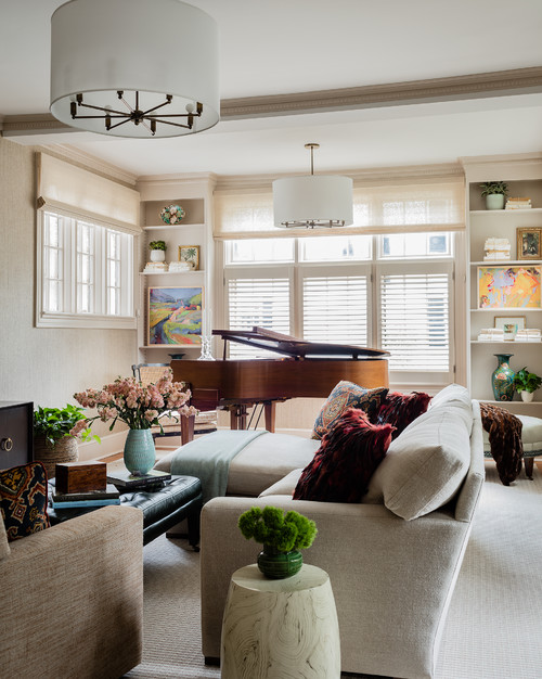 Traditional Living Room with Grand Piano
