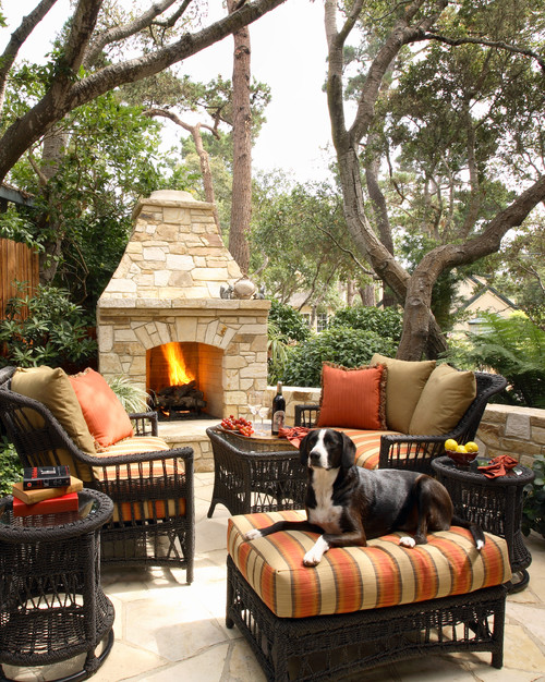 Cozy Patio with Rattan Furniture