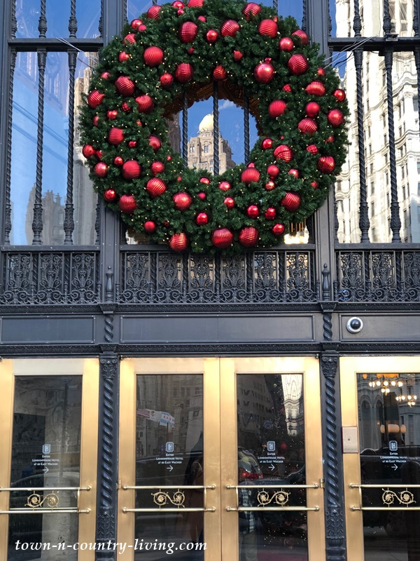 Christmas Wreath at LondonHouse Chicago