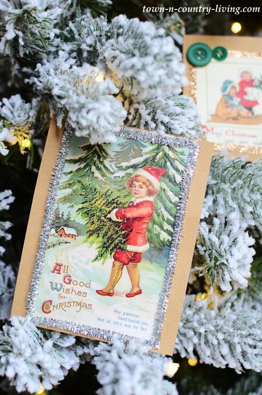 DIY Vintage Christmas Cards
