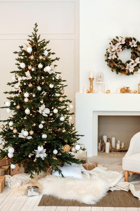 Traditional Christmas Fireplace