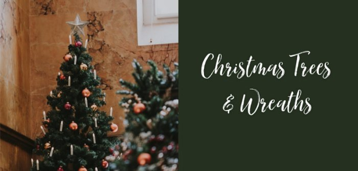 Christmas Trees and Wreath - Holiday Shop at Town and Country Living