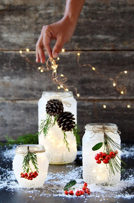 DIY Frosted Jars