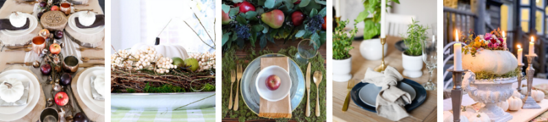Fall Centerpieces and Table Settings