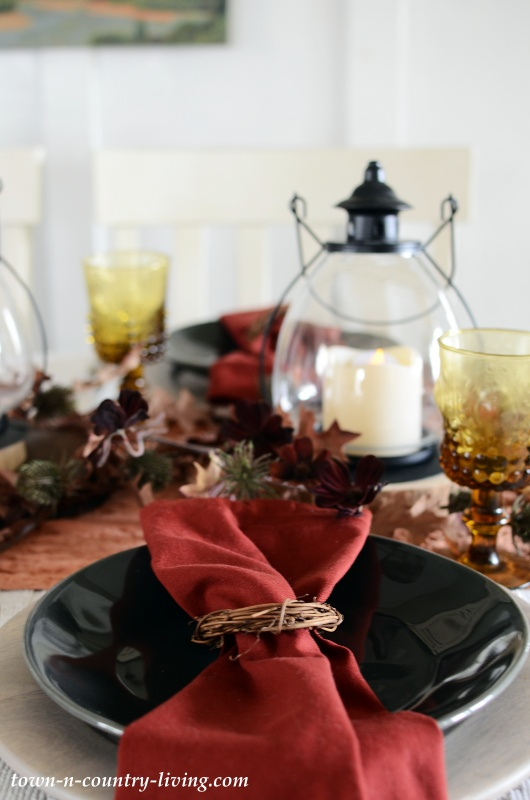 Thanksgiving Table Setting in Gray and Rust