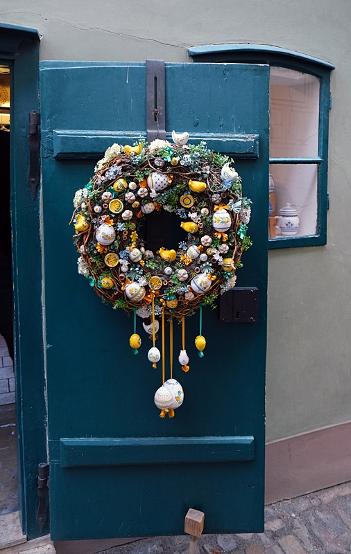 Gorgeous Vintage Wreath on Antique Door