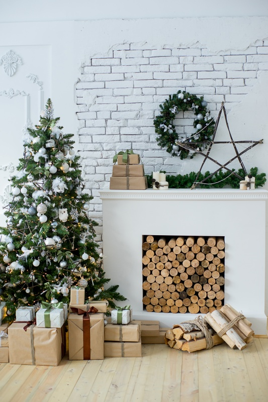 White and Green Christmas