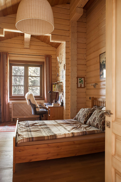 Modern Country Wood Planked Bedroom