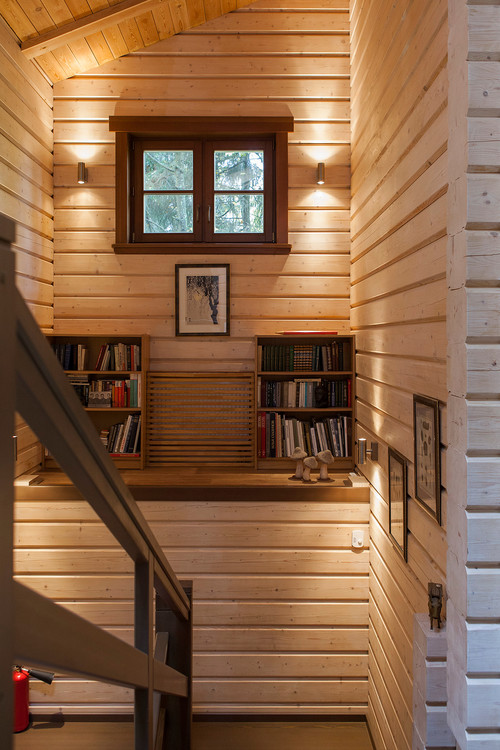 Wood Planked Staircase