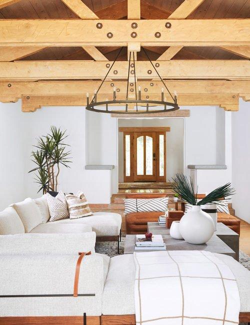 Modern Mediterranean Family Room