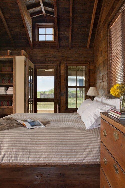 Montana Cabin Master Bedroom