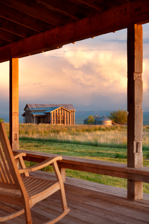 View of Montana from a Cabin Front Porch