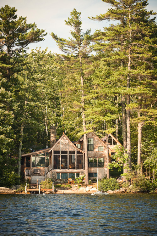 Rustic Cabin on Panther Pond in Maine